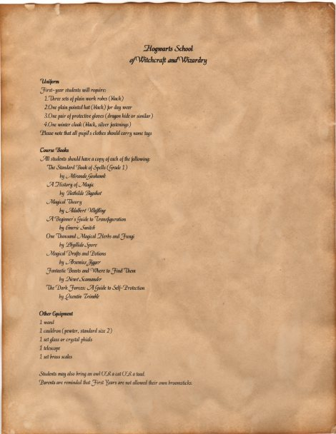 Diy Hogwarts Acceptance Letters | Lemon Zest
