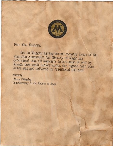 DIY Hogwarts Acceptance Letters